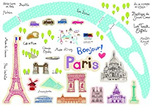 Wall Point Sticker: KRHS-PS-60047 - Bonjour Paris