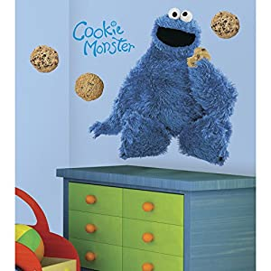 RoomMates RMK1483GM Sesame Street Cookie Monster Giant Peel & Stick Wall Decal
