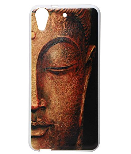 Classic Gold Buddha Exclusive Rubberised Back Case Cover For HTC Desire 626G Plus (626G+)
