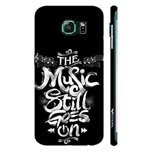 Samsung Galaxy S6 Edge Music always goes on designer mobile hard shell case by Enthopia
