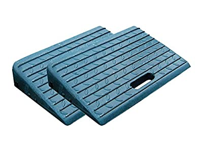 Heavy Duty Set of 2 Rubber Car and Scooter Kerb Ramps