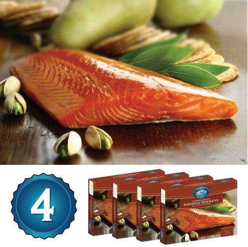 4 -4Oz. Smoked Copper River Sockeye Salmon (1 Lb. Total)