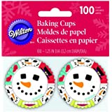 Wilton 415-1816 100-Pack Merry and Sweet Baking Cups, Mini