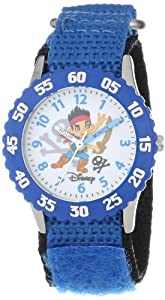 "Disney Kids' W000381 ""Time Teacher"" Jake and the Neverland Pirates Stainless Steel Watch"