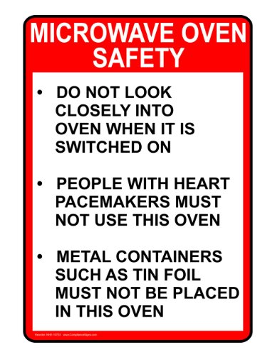 Compliancesigns Vinyl Food Prep / Kitchen Safety Label, 5 X 3.5 In. With English, White 4-Pack