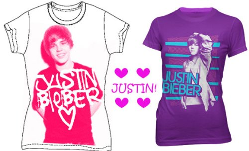 JUSTIN BIEBER T-SHIRT SET - SEXY JUSTIN FAN COLLECTION - JUSTIN BIEBER