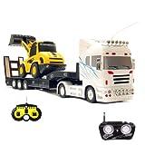 RC R/C ferngesteuerter Truck LKW Sattelzug + ferngesteurter Bagger Schaufelbagger Radlader! MEGA-SET: Beide Modelle jeweils mit eigener Fernsteuerung!