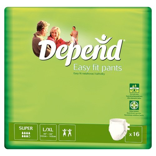 Depend Pants Easy Fit Large/Extra Large 16