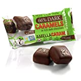 Vegan Gray Salt Caramels in 66% Dark Chocolate, 1.0 ounces (2 pcs/pack)