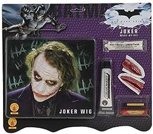 Rubies - Joker Perücke Make Up Batman Halloween Verkleidung Kostüm Zubehör