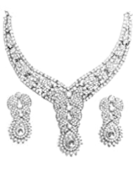 AUSTRIAN DIAMOND NECKLACE SET BY ZAVERI PEARLS - B00ROVI0WS