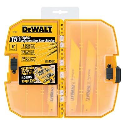 DEWALT DW4890 Bi-Metal Reciprocating Saw Blade Tough Case Set, 15-Piece from DEWALT