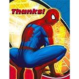 Spider Man Sense Thank-You Notes (8) Party Supplies
