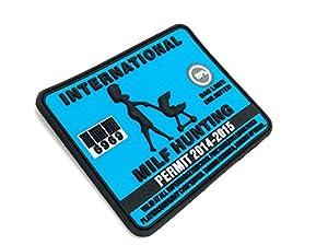Permis de Chasse de MILF International PVC Grand Airsoft Velcro Patch