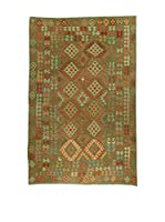 Design Community By Loomier Alfombra Kelim Kaudani Big (Verde/Multicolor)