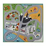 IKEA LEKPLATS - Play mat, multicolour - 133x140 cm