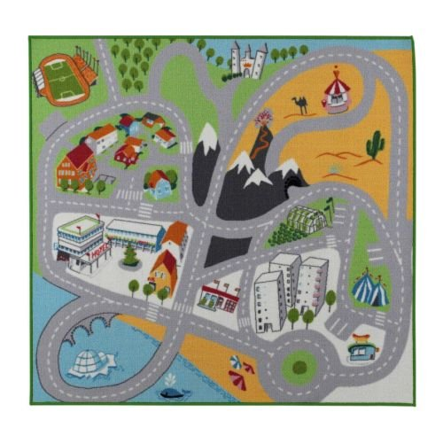 Buy Low Price Annie Hulden 55″ X 52″ Play Mat Multi Color for Kids Children Room (B0029RJIV4)