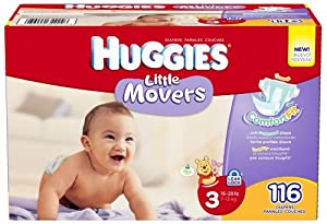 Huggies Little Movers Diapers - Size 3 - 116 ct