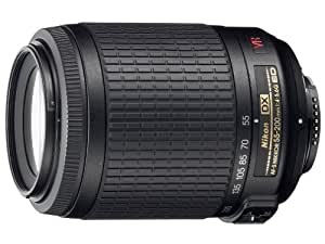Nikon AF-S DX Zoom-Nikkor 55-200mm 1:4-5,6 G IF-ED VR Objektiv (bildstab.) inkl. HB-37 (52mm Filtergewinde)