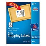 Avery Shipping Labels for Ink Jet Printers with TrueBlock Technology, 3.33 x 4 Inches, White, Pack of 150 (08164)