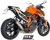 SC-Project: KTM 1290 SUPER DUKE R スリップオンマフラー チタン(カーボンエンドキャップ) CONIC サイレンサー