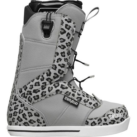 ThirtyTwo 86 Fast Track Women's Winter Sport Racing Snowmobile Boots - Grey / Size 8.5