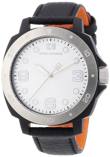 Boss Orange Women's Quartz Watch Orange 1502289 with Leather Strap