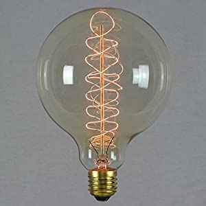 vintage edison globe light bulb 60w - giant spiral globe dimmable 125mm e27 es - the retro boutique ® Vintage Edison Globe Light Bulb 60w – Giant Spiral Globe Dimmable 125mm E27 ES – The Retro Boutique ® 51TecsW6gIL