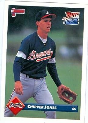 Chipper Jones baseball card 1993 Donruss #721 Rated Rookie (Atlanta Braves) Rookie Card