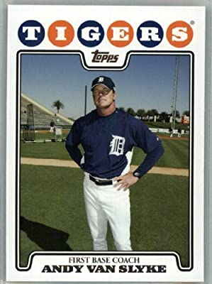 2008 Topps Detroit Tigers LIMITED EDITION Team Edition Gift Set # 26 Andy Van Slyke - First Base Coach - MLB Trading Card