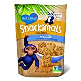 Barbara's Bakery Snackimals Animal Cookies, Vanilla, 7.5-Ounce Bags (Pack of 6) ~ Barbara's Bakery