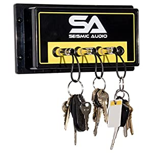 Seismic Audio - SA-4key - Amplifier 4 Key Holder - Guitar Amp Key-Chain Hanger for Studio and Home - Musician or DJ Gift