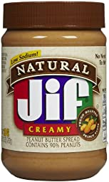 Jif Natural Creamy Peanut Butter Spread - 28 oz