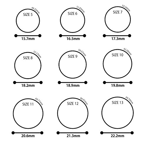 ThunderFit Silicone Wedding Band / Engagement Ring - 3 Rings Pack - 8.7mm Wide (2mm Thick) - Middle Line (13)