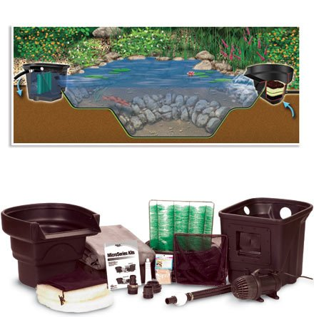 Micropond kit 8 x 11 1000 gal fountain pumps pond for Pond kits supplies