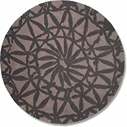 Esprit Home Oriental Lounge Grey Area Rug 3\'3\'\' Round