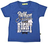 Buzzy Baby Boys' 12-18 Months Cotton T- Shirt (Blue)