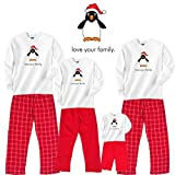 Penguin Cotton Christmas Clothing; Choose Adult or Kids Set for Family Matching ~ Footsteps Clothing