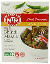 MTR Bhindi Masala, 10.58-Ounce Boxes (Pack of 10)