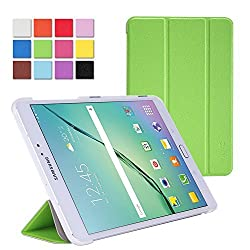 WAWO Classic Tri-fold Smart Cover Case for Samsung Galaxy Tab S2 9.7 inch Tablet,with Auto Sleep/Wake, Magnetic closure, Multi angle stand - Green
