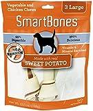 SmartBones Sweet Potato Dog Chew, Large, 3-count-12.0 oz
