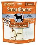 SmartBones Sweet Potato Dog Chew, Large, 3-count