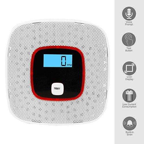 nouveau co alarme d tecteurs de monoxyde de carbone automatique vocale portable avertisseur. Black Bedroom Furniture Sets. Home Design Ideas