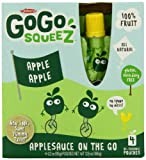 GoGo Squeez appleapple, Applesauce on the Go, 3.2-Ounce Pouches (Pack of 48)