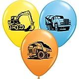 "Trucks & Diggers Party Construction Trucks Assorted 11"" Latex Balloons x 5"