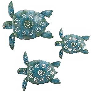 Wall Art Handcrafted Decor Sea Turtle 3-Pack