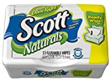 Scott Naturals Folded Moist Wipes, 51-count Tubs (12 tubs)