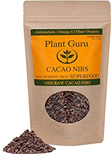 Premium Certified Organic Raw Cacao Nibs - 16oz/1 Pound