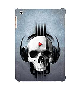 Music Skull Designer 3D Hard Polycarbonate Designer Back Case Cover for Apple iPad Mini 2 :: Apple iPad Mini 2 Wi-Fi + Cellular