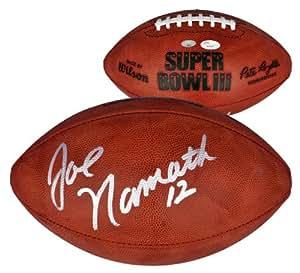 Joe Namath Autographed Super Bowl III Football - Witness - JSA Certified - Autographed Footballs